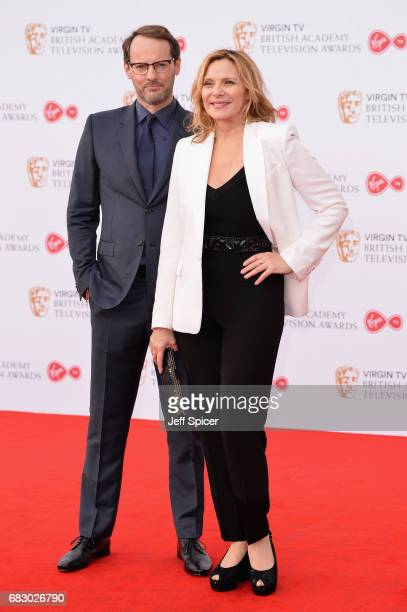 Kim Cattrall and guest attend the Virgin TV BAFTA Television Awards at The Royal Festival Hall on May 14 2017 in London England
