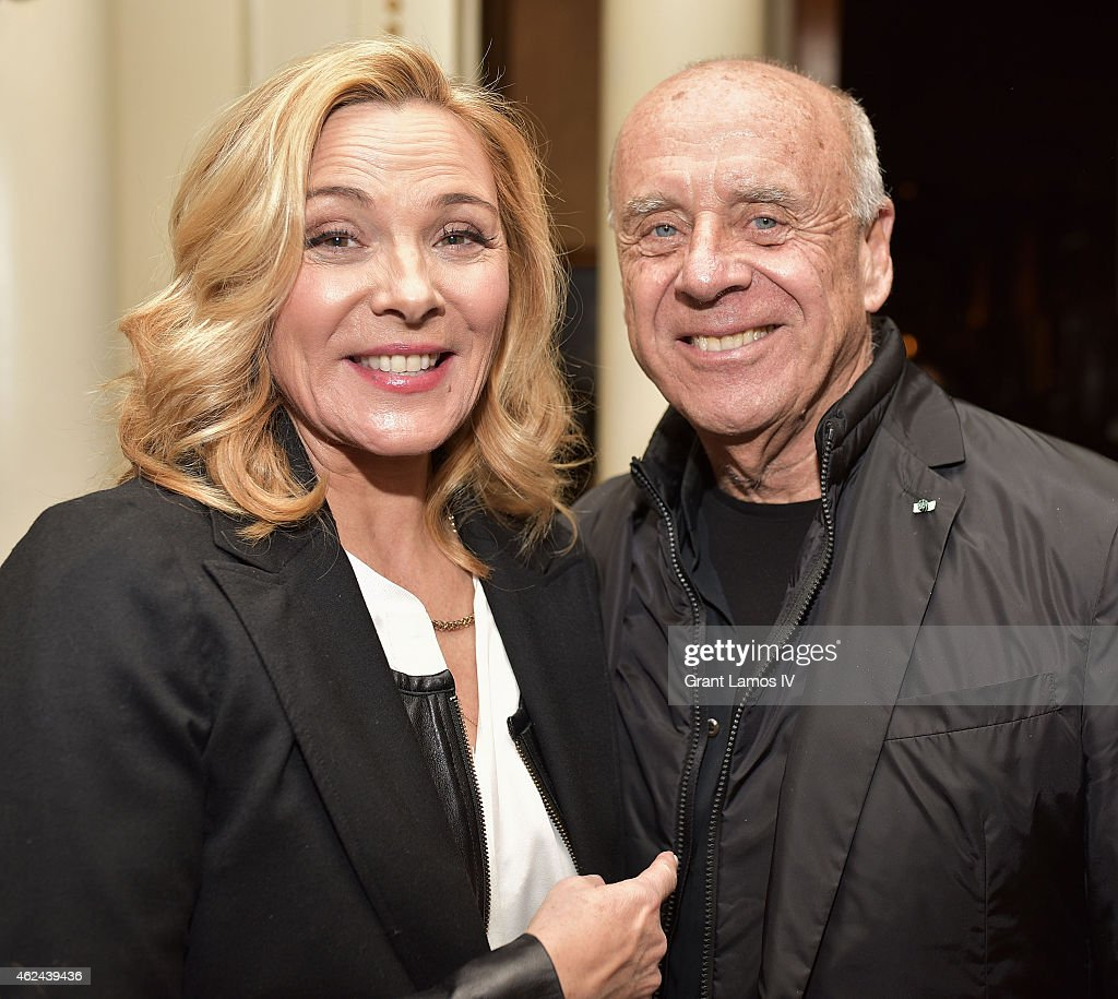 Kim Cattrall and photographer Ralph Gibson attend the 'Shakespeare Uncovered' premiere at The Players Club on January 28, 2015 in New York City.
