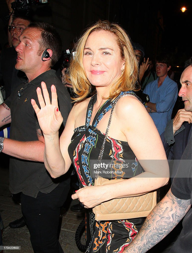 Kim Cattrall at Lou Lou's club on July 13, 2013 in London, England.