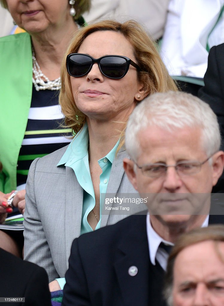 <a gi-track='captionPersonalityLinkClicked' href=/galleries/search?phrase=Kim+Cattrall&family=editorial&specificpeople=202214 ng-click='$event.stopPropagation()'>Kim Cattrall</a> attends on Day 8 of the Wimbledon Lawn Tennis Championships at the All England Lawn Tennis and Croquet Club at Wimbledon on July 2, 2013 in London, England.