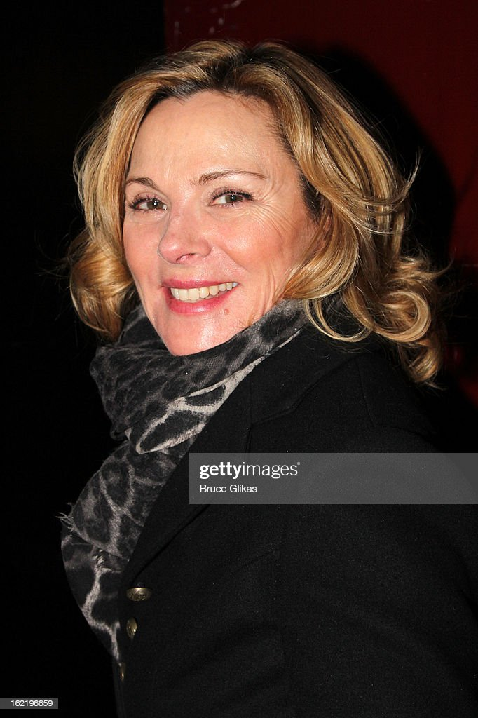 Kim Cattrall attends 'Really, Really' on Opening Night at the Lucille Lortel Theatre on February 19, 2013 in New York, United States.
