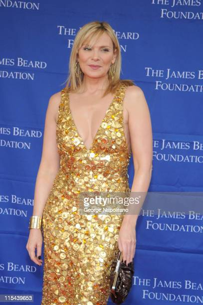 Kim Cattrall attends the 2008 James Beard Foundation Awards on June 8 2008 at Avery Fisher Hall in New York