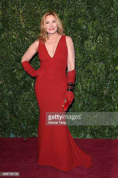Kim Cattrall attends the 60th London Evening Standard Theatre Awards at London Palladium on November 30 2014 in London England