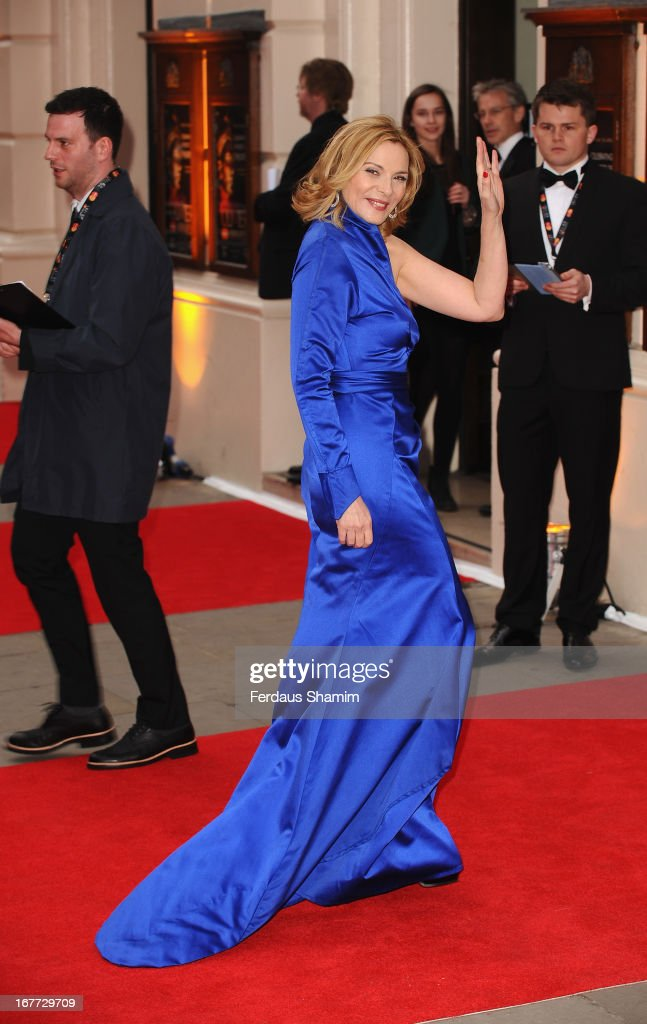 Kim Cattrall attends The Laurence Olivier Awards at The Royal Opera House on April 28, 2013 sLondon, England.