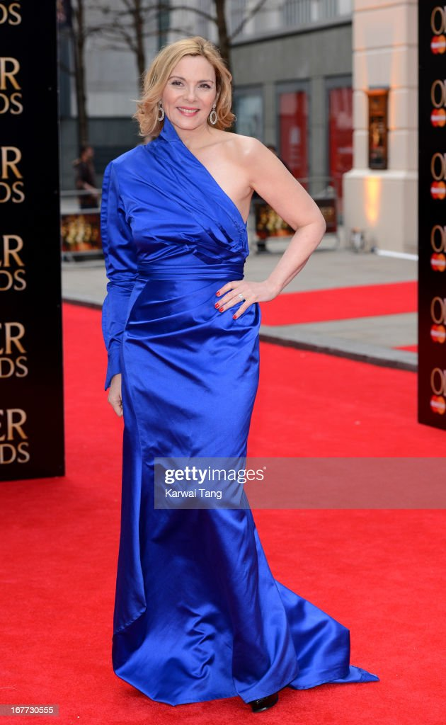 Kim Cattrall attends The Laurence Olivier Awards at The Royal Opera House on April 28, 2013 in London, England.