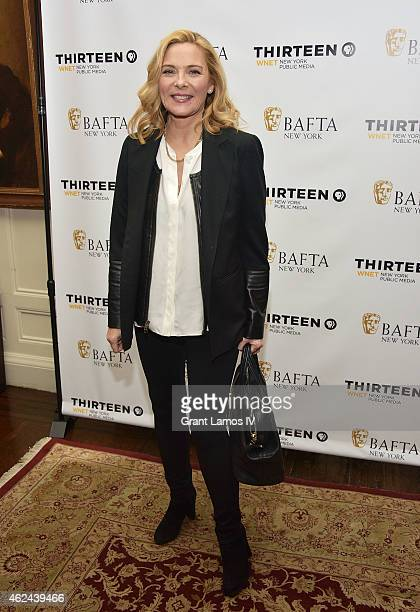 Kim Cattrall attends the 'Shakespeare Uncovered' premiere at The Players Club on January 28 2015 in New York City