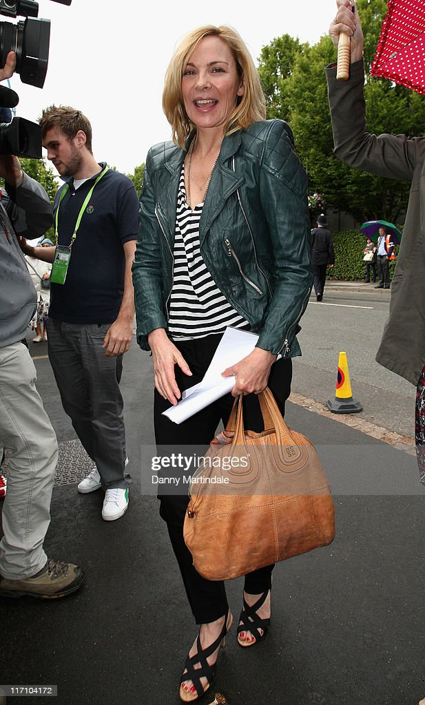 Kim Cattrall attends the Wimbledon Championships 2011 at the All England Club on June 22, 2011 in London, England.