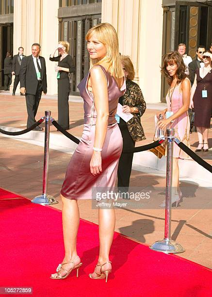 Kim Cattrall during 2003 Emmy Creative Arts Awards Arrivals at Shrine Auditorium in Los Angeles California United States