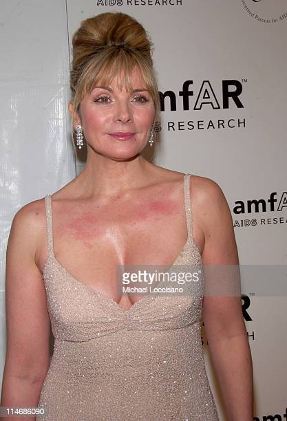 Kim Cattrall during AmfAR New York City Gala Honoring John Demsey Whoopi Goldberg and Bill Roedy Inside at Cipriani's 42nd Street in New York City...