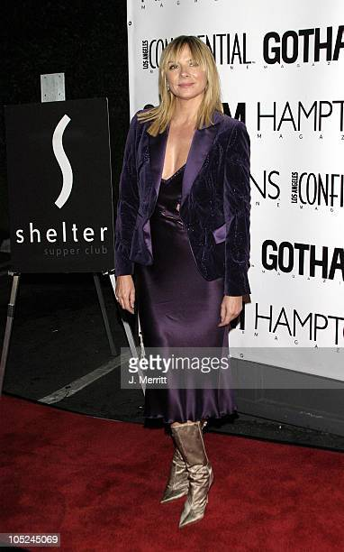 Kim Cattrall during LA Confidential's Fall Fashion Emmy Issue Party at The Shelter Supper Club in West Hollywood California United States