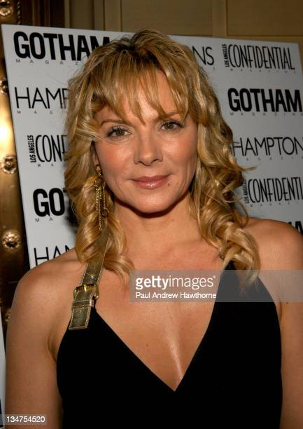Kim Cattrall during Kim Cattrall Hosts the StarStudded Anniversary Celebration of Gotham and LA Confidential Magazines – Arrivals at Gotham Hall in...