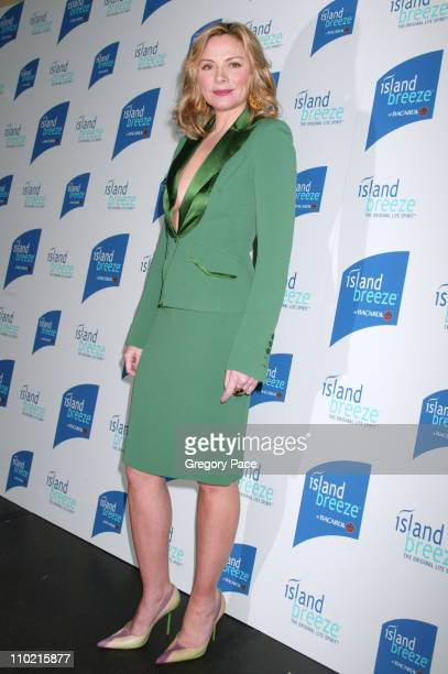 Kim Cattrall during Kim Cattrall Unveils New Half Calorie Liquor Island Breeze by Bacardi The Original Lite Spirit at Hotel Gansevoort in New York...