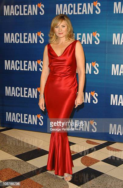 Kim Cattrall during Macleans Magazine Celebrates Its 100th Anniversary Gala at Toronto Centre for the Performing Arts in Toronto Ontario Canada