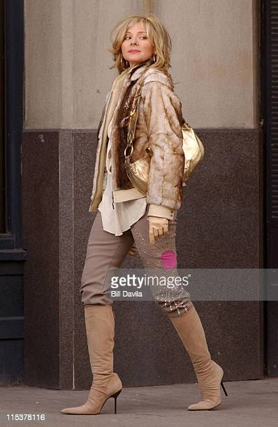 Kim Cattrall during Sex and the City Promo Shoot at Brooklyn New York in New York NY United States