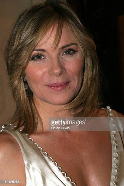 Kim Cattrall during The Acting Company's 2005 Black and White Masquerade Ball Saluting Jack O'Brien at The Waldorf Astoria in New York City New York...