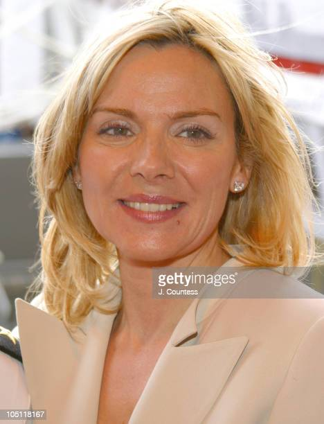 Kim Cattrall during Tommy Hilfiger Celebrates the Premiere of his New Film 'Proud' at USS Mason at Pier 88 in New York City New York United States