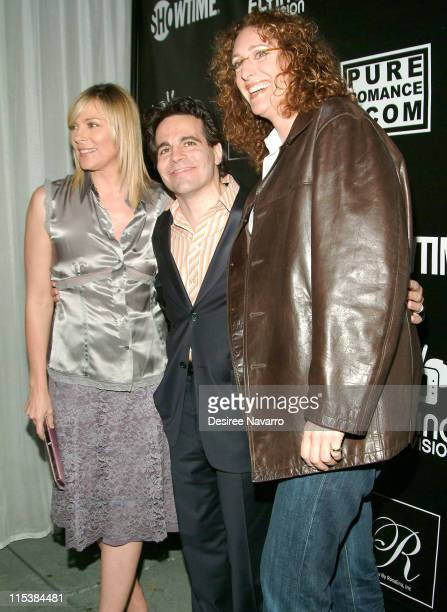 Kim Cattrall Mario Cantone and Judy Gold during Premiere Party for Mario Cantone's 'Laugh Whore' on Showtime at The Garden of Ono in New York City...