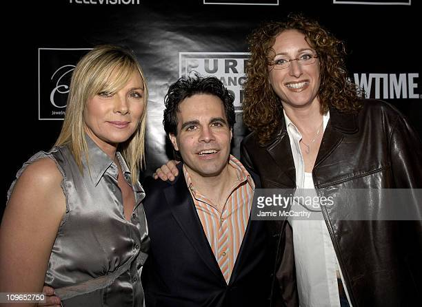 Kim Cattrall Mario Cantone and Judy Gold during PureRomancecom and Jewelry by Rosalina Present Kim Cattrall's Party for Mario Cantone's 'Laugh Whore'...