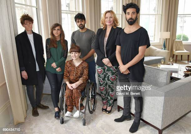 Kim Cattrall poses with past Breakthrough Brits Charlie Covell Marnie Dickens Ruth Madeley Vinay Patel and Ray Panthaki at the BAFTA Breakthrough...