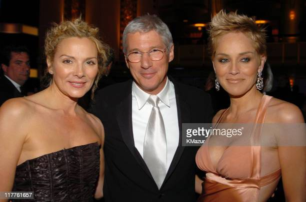 Kim Cattrall Richard Gere and Sharon Stone during 19th Annual American Museum of the Moving Image Benefit Salute to Richard Gere Inside at Waldorf...
