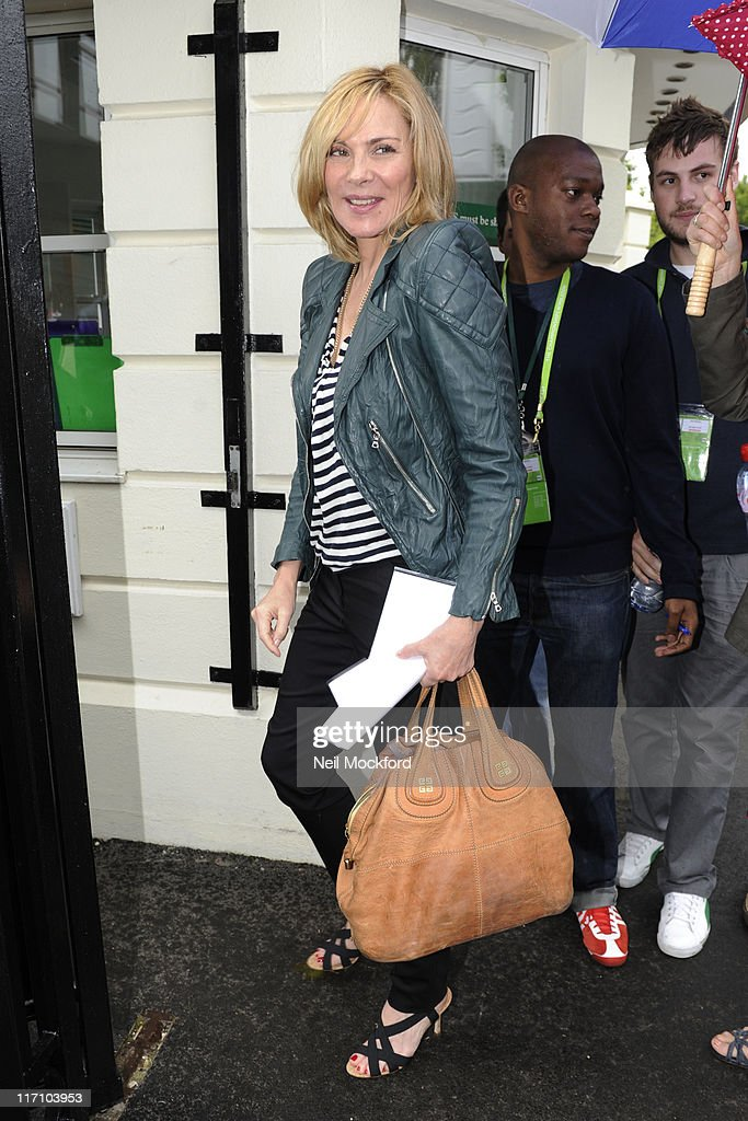 Kim Cattrall sighted attending Wimbledon on June 22, 2011 in London, England.