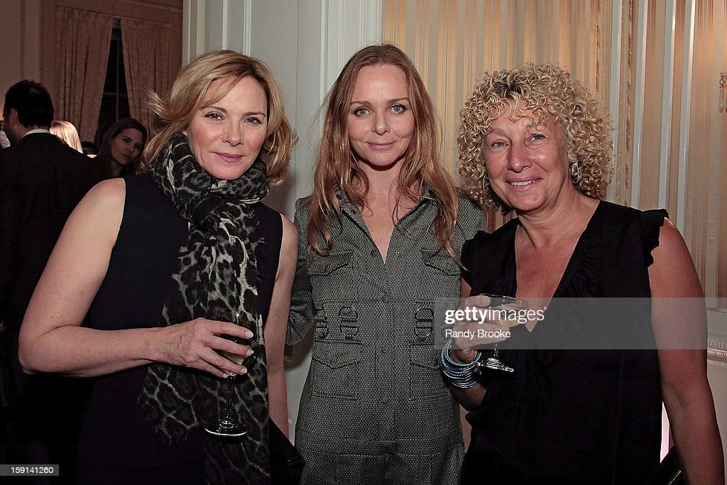 Kim Cattrall, Stella McCartney and Mary Jane Marcasiano attend the Stella McCartney Autumn 2013 Presentation at 680 Park Avenue on January 8, 2013 in New York City.