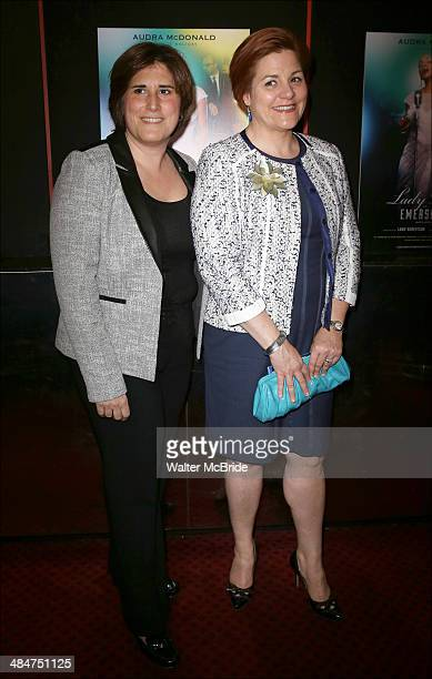 Kim Catullo and Christine Quinn attend the Broadway Opening Night Performance of 'Lady Day at Emerson's Bar Grill' at Circle in the Square Theatre on...