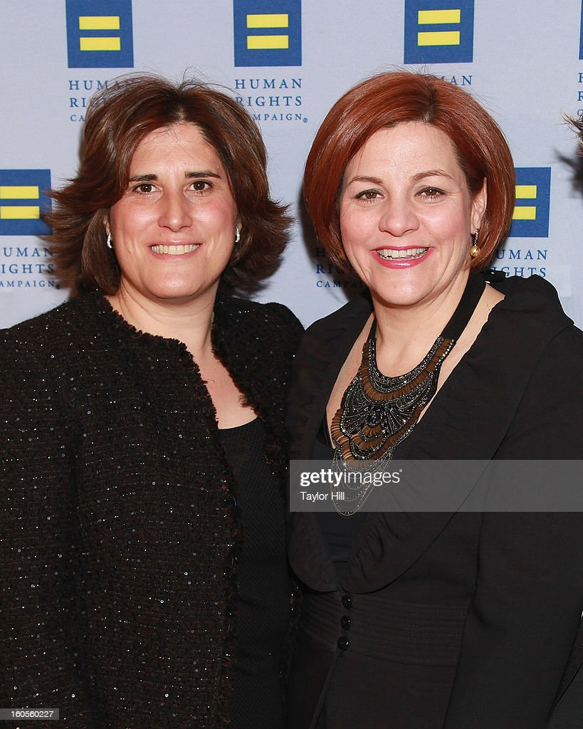 Kim Catullo and wife City Council Speaker Christine Quinn attend The 2013 Greater New York Human Rights Campaign Gala at The Waldorf=Astoria on February 2, 2013 in New York City.