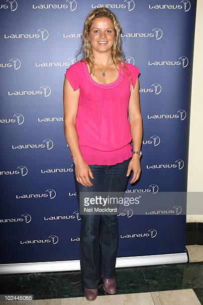 Kim Clijsters attends party hosted by Martina Navratilova at Westbury Hotel on June 26 2010 in London England