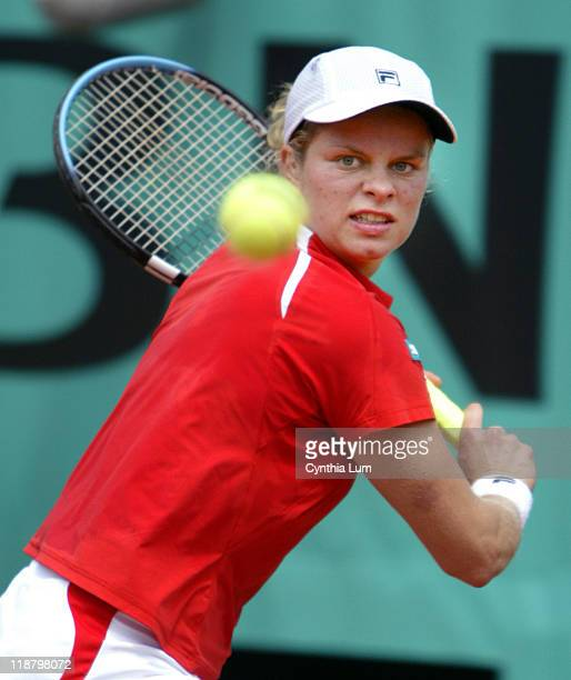Kim Clijsters beats Conchita Martinez 61 62 at the French Open Tennis Championships at the Roland Garros Stadium