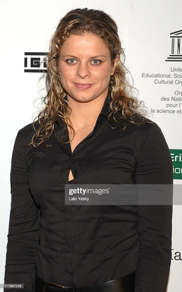 <a gi-track='captionPersonalityLinkClicked' href=/galleries/search?phrase=Kim+Clijsters&family=editorial&specificpeople=178302 ng-click='$event.stopPropagation()'>Kim Clijsters</a> during 2006 Sony Ericsson Championships Official Party at MOMA Club in Madrid, Spain.