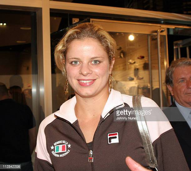 Kim Clijsters during FILA New York City Flagship Store Launch Party at FILA Store in New York City New York United States