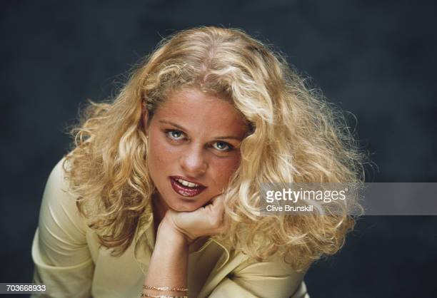 Kim Clijsters of Belgium poses for a portrait in Key Biscayne during the ATP Lipton Tennis Championship on 12 March 1999 in Key Biscayne Florida...