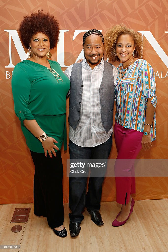 Kim Coles, Abyss and Amanda Seales attend 'The Spoken Word' hosted by Kim Coles at L'Oreal Soho Academy on February 26, 2013 in New York City.