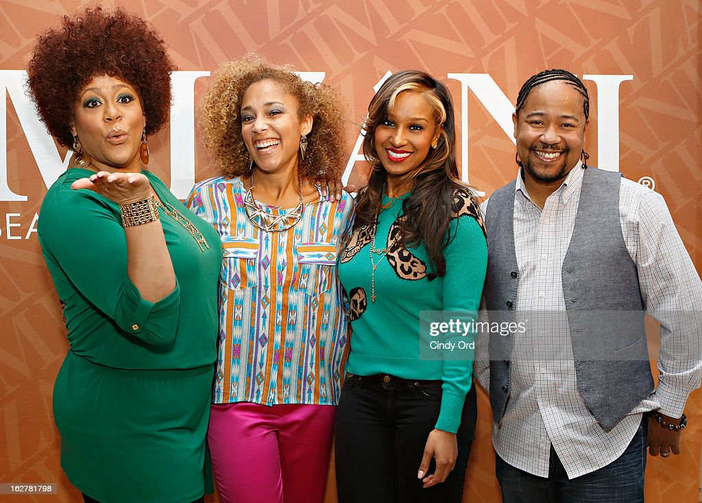 Kim Coles, Amanda Seales, Olivia Longott and Abyss attend 'The Spoken Word' hosted by Kim Coles at L'Oreal Soho Academy on February 26, 2013 in New York City.