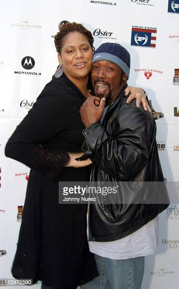 Kim Coles and Shaun Baker during VIBE Celebrity Cabana at Viceroy Hotel in Santa Monica California United States