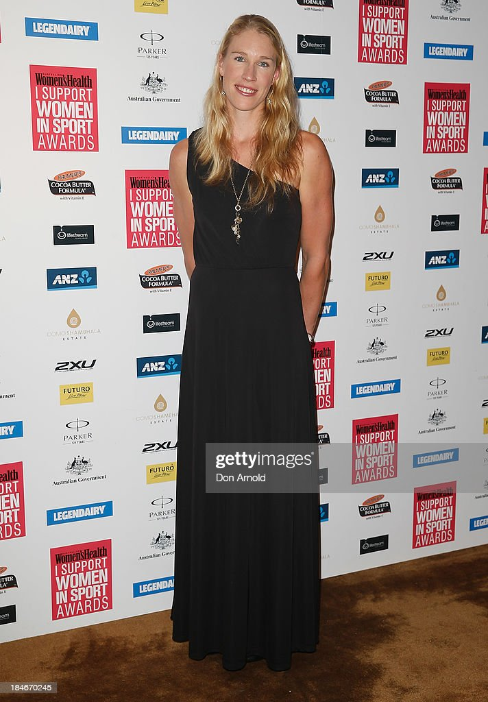 Kim Crow arrives at the 'I Support Women In Sport' awards at The Ivy Ballroom on October 15, 2013 in Sydney, Australia.