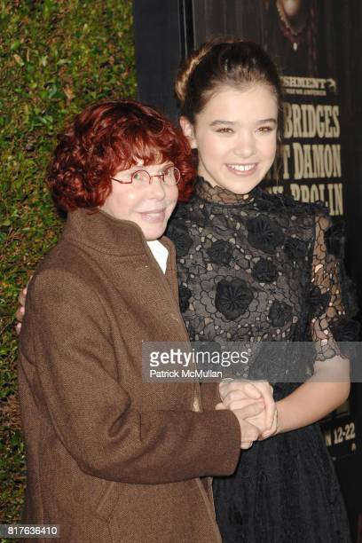 Kim Darby and Hailee Steinfeld attend PreRelease Industry Screening of TRUE GRIT at Academy of Motion Picture Arts and Sciences on December 9 2010 in...