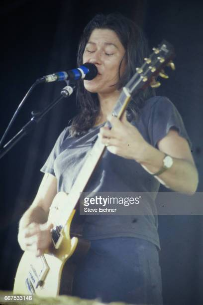 Kim Deal of the Breeders performs at Lollapalooza Chicago Illinois July 15 1994
