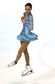 Kim Decelles of Canada skates during the junior ladies short dance of the ISU Junior Grand Prix at Dom Sportova on October 8 2015 in Zagreb Croatia