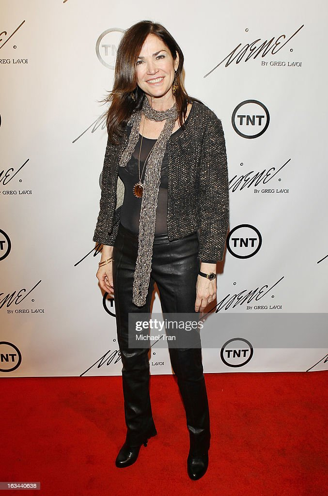 Kim Delaney arrives at the 2013 Los Angeles Fashion Week - The House Of Irene Autumn/Winter 2013 fashion show held at Raleigh Studios on March 9, 2013 in Los Angeles, California.