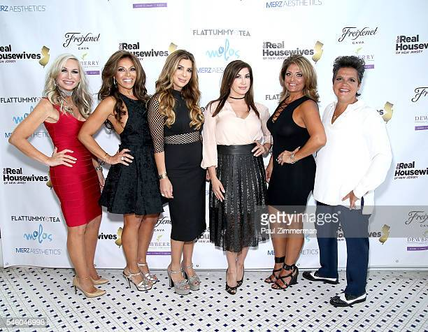 Kim DePaola Dolores Catania Siggy Flicker Jacqueline Laurita Kathy Wakile and Rosie Pierri attend the 'Real Housewives Of New Jersey' Season 7...