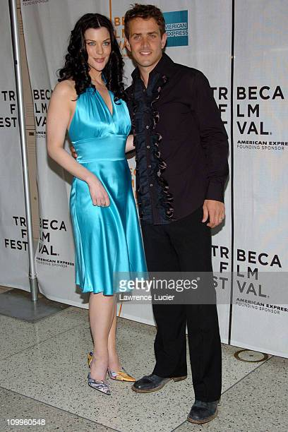 Kim Director and Joey McIntyre during 3rd Annual Tribeca Film Festival ''Tony N' Tina's Wedding'' Premiere at Stuyvesant High School in New York City...