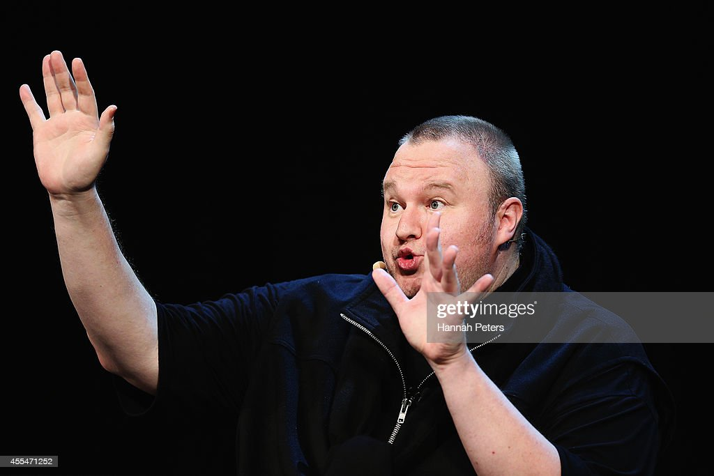 <a gi-track='captionPersonalityLinkClicked' href=/galleries/search?phrase=Kim+Dotcom&family=editorial&specificpeople=8806663 ng-click='$event.stopPropagation()'>Kim Dotcom</a> and other special guests discuss the revelations about New Zealand's mass surveillance at Auckland Town Hall on September 15, 2014 in Auckland, New Zealand. The general election in New Zealand will be held this weekend, on 20 September 2014.