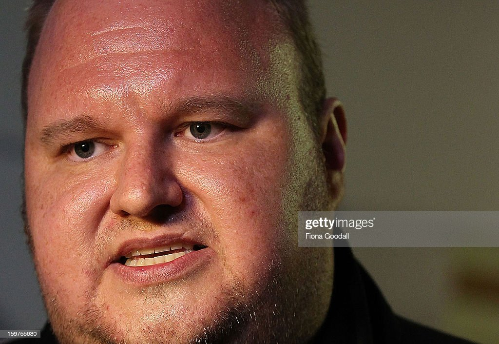 <a gi-track='captionPersonalityLinkClicked' href=/galleries/search?phrase=Kim+Dotcom&family=editorial&specificpeople=8806663 ng-click='$event.stopPropagation()'>Kim Dotcom</a> launches his new file-sharing site, Mega, on January 20, 2013 in Auckland, New Zealand. The launch comes as Dotcom continues to face extradition to the United States on copyright and racketeering charges in relation to his file sharing site, Megaupload.