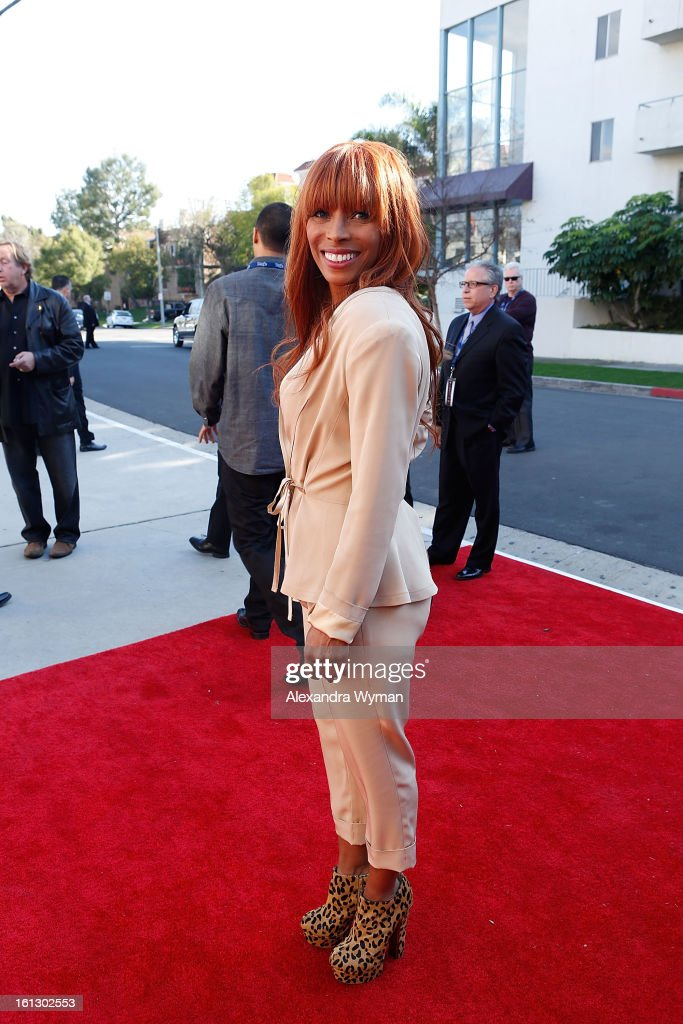 Kim English (Melvin Franklin's widow) at The 55th Annual GRAMMY Awards - Special Merit Awards Ceremony And Nominee Reception held on on February 9, 2013 in Los Angeles, California.