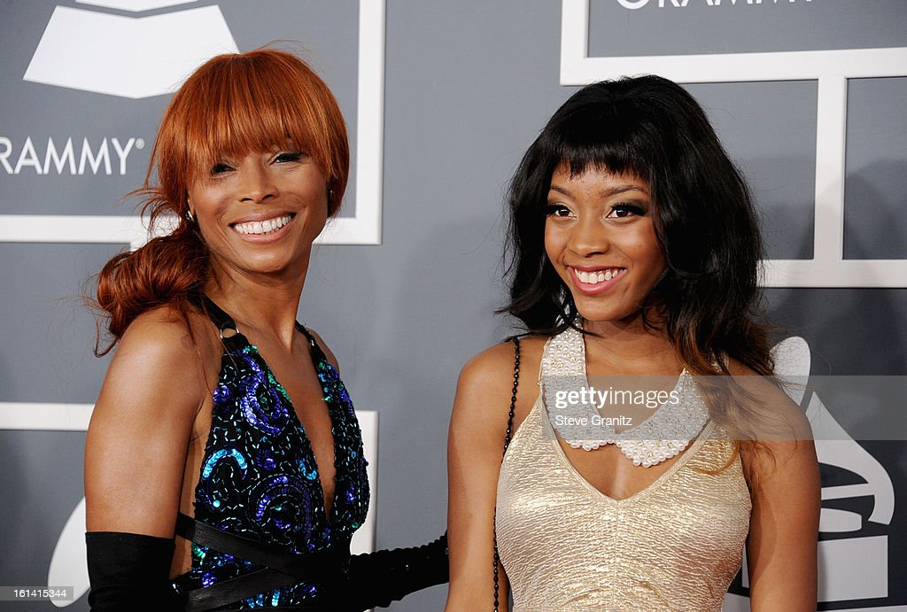 Kim English (L) attends the 55th Annual GRAMMY Awards at STAPLES Center on February 10, 2013 in Los Angeles, California.