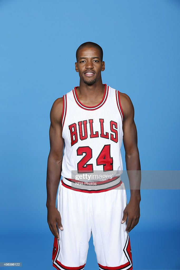 Kim English of the Chicago Bulls poses for a picture as part of 201415 NBA Media Day at The Advocate Center on September 29 2014 in Chicago Illinois...