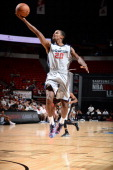 Kim English of the Washington Wizards goes up for the layup against the San Antonio Spurs during the Samsung NBA Summer League 2014 on July 19 2014...