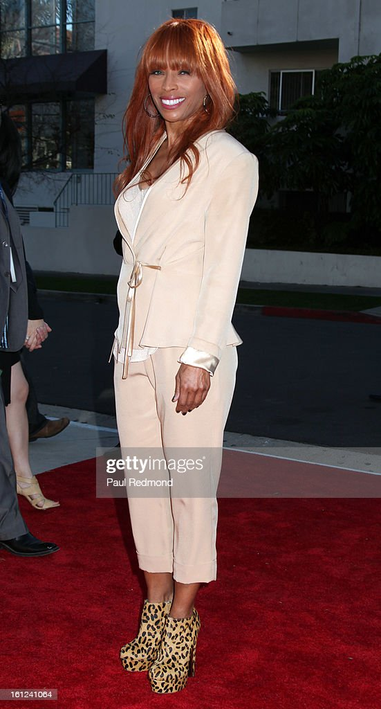 Kim English, widow of The Temptasions singer Melvin Franklin, arrives at the Recording Academy Special Merit Awards Ceremony at The Wilshire Ebell Theatre on February 9, 2013 in Los Angeles, California.